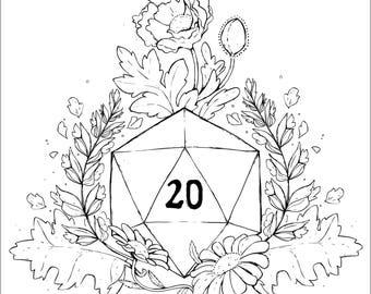 Plant Secrets: DM / D20 - A5 Gesso Art Print