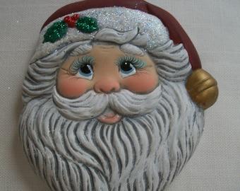 ceramic Santa Christmas ornament