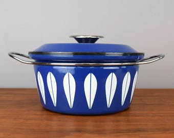 Mid-Century Cathrineholm 'Lotus' Casserole in Blue, Norway