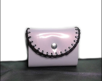 Wallet purple patent leather - gift idea chic woman