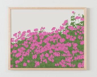 Fine Art Print.  Geraniums in Bloom.  April 19, 2016.