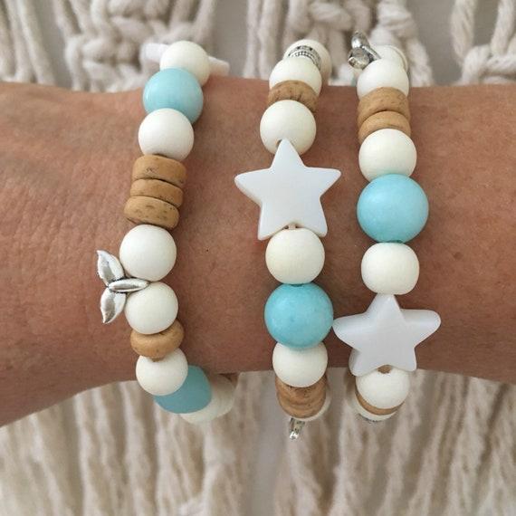 boho jewelry, beachcomber wooden beach bracelet