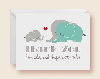 thank you card baby shower