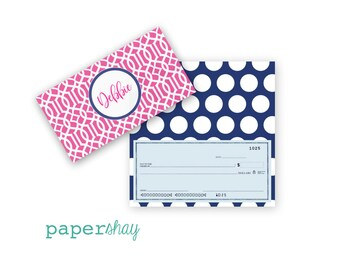 Checkbook Cover, TRELLIS, Monogrammed Checkbook Cover, Personalized Checkbook Cover, Custom Checkbook Cover, Vinyl Checkbook Cover