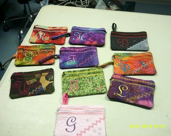 Monogrammed Purse, Makeup case, phone case