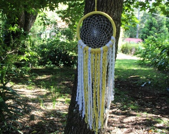 Bright and Cheerful Yellow Dream Catcher Wall Hanging Decor