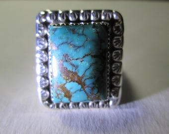 Ring... sterling silver, size 10,,,Turquoise Mountain