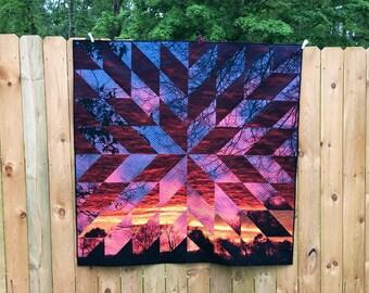 Sunrise sunset quilt