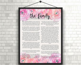 The Family Proclamation Print