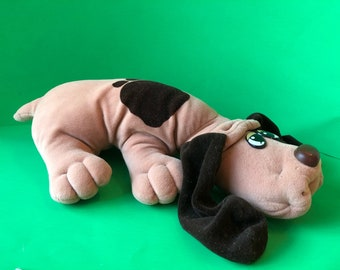 Lovable. Huggable Pound Puppies. Vintage Tonka full size Pound Puppy.  He is in good vintage condition to give to an 80s lover as a gift.