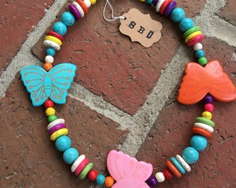 Butterfly Kisses Kids Necklace