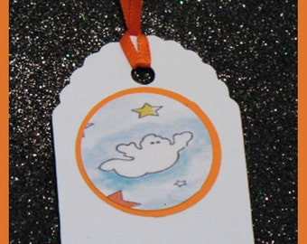 Ghosts gift tags, Ghosts favor tags, Ghosts party tags, Ghosts Halloween Tags set of 10