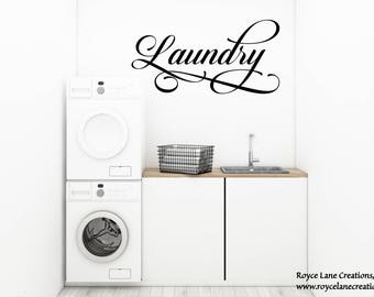 Laundry Room Decal- Laundry Door Decal- Laundry Room Decor- Laundry Decal- Laundry Decor- Laundry Door Vinyls- Laundry Stickers-Laundry Sign