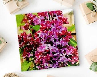 Lilacs - Lilac Flower - Flower Canvas Art - Lilac Bouquet - Spring Wall Art - Flower Art - Purple Wall Art - Lilac Wall Art - Flower Art 8x8