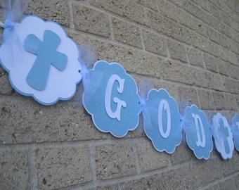 God Bless Banner, Baptism banner, Confirmation Banner, First Communion Banner