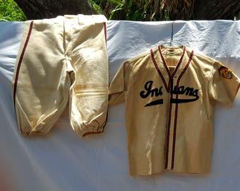 1950's Boys Cleveland Indians Baseball Uniform