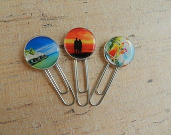 Set of 3 Planner Clips, Planner Accessories, Planner Clip Set, Journal Clip, Planner Paper Clip, Bookmark