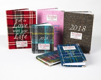 Harris Tweed Diaries and Notebooks A5 and A6