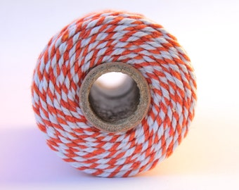 12 Ply Orange Bakers Twine 100 yard spool 12 Ply Thick Cotton String- Birthday Baby Shower Wedding