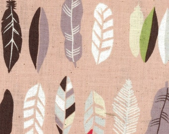 Natural Ethnic - Pink Feathers CANVAS from Kokka