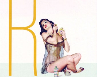 R is for Raunchy Pin-Up Girl Poster