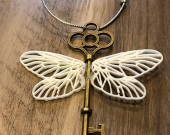 Set of Two Winged Flying Brass Key Ornaments Harry Potter
