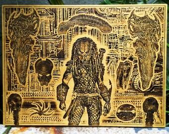 Predator, Alien, Man Cave Gift for Him, Alien vs Predator, Unique Birthday Gift for Him, Gift for Husband Gift, Gift for Boyfriend Gift