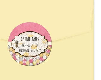 Personalized Address Labels / Sweet As Honey Stickers / Bees / Return Address Label / Envelope Seals / Wedding Labels / Thank You Stickers