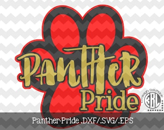 Panther Pride Files INSTANT DOWNLOAD in dxf/svg/eps for use with programs such as Silhouette Studio and Cricut Design Space