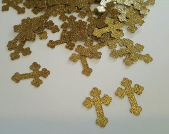 100 piece Cross Confetti, Baptism Confetti, Baptism Party, Baptism Decor,