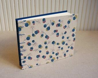Blue Flower Handmade Album Coptic Stitch Scrapbooking