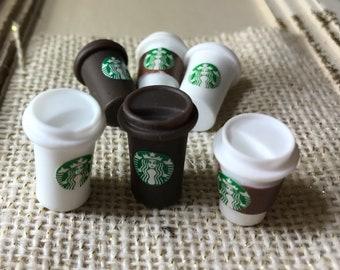 Miniature Starbucks Coffee Venti Cabochons