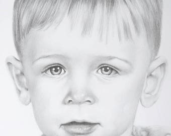 Custom hand-drawn Graphite Pencil Portrait