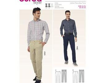 Burda Style Sewing PATTERN 6873 - Mens Sportswear Pants