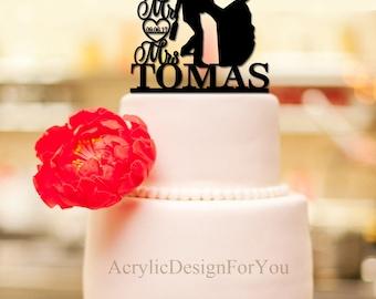 Drunk Bride Cake Topper, Custom Wedding Cake Topper, Personalized Cake topper, Funny Cake Topper,Mr and Mrs Cake Topper C242