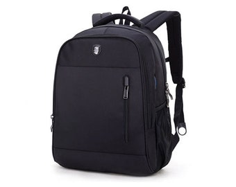 Mens Backpack Casual Laptop College School Bag Headphone Port 0018