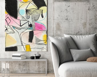 Art painting, Original painting, abstract painting, Acrylic  painting, Large Colorful Wall Art