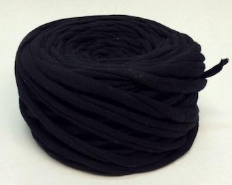 T-shirt yarn black tshirt yarn fabric yarn cotton yarn zpagetti yarn  tricot black cotton yarn Necklaces Bracelets