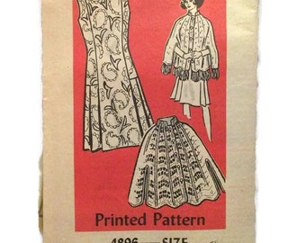 Anne Adams 4896 Mail Order Pattern Workbasket Misses Dress and Crocheted Cape Size 16 UNCUT