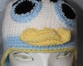 a child Hat hand knitted donald cartoon