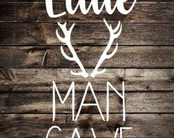 Little Man Cave Nursery Print