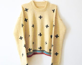 Knit sweater, hand knitted sweater, pullover, jumper, cardigan, wool,