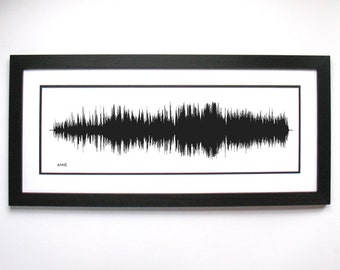 Amie  - Music Sound Wave Wall Art Print, Unique Home Decor.