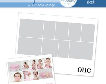 5 x 7 Storyboard Template (Birthday) Photoshop file for Photographers