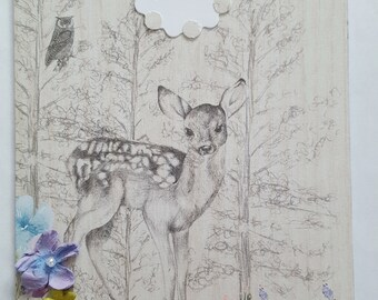 Happy Birthday Card - Best Wishes - Woodland themed