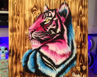 Tiger Woods - Original Painting by Claire Hylands