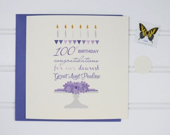 Custom Birthday Card, 70th Birthday Card, 80th Birthday Card, 90th Birthday Card, 100th Birthday Card, for Mom, Mother, Grandmother, Aunt