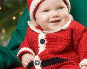 Crochet Pattern - Christmas Baby Santa Suit