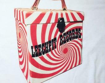 Leechpit Platter Pak Record Box White Stripes Swirl 45rpm T-shirt