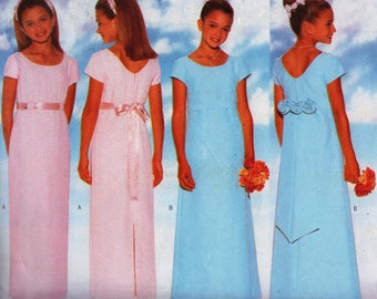 Vintage Sewing Pattern / Butterick 4839 / child's dress sewing pattern /Bridesmaid or party dress/ Sizes 7, 8, 10 /Bridesmaid Pattern